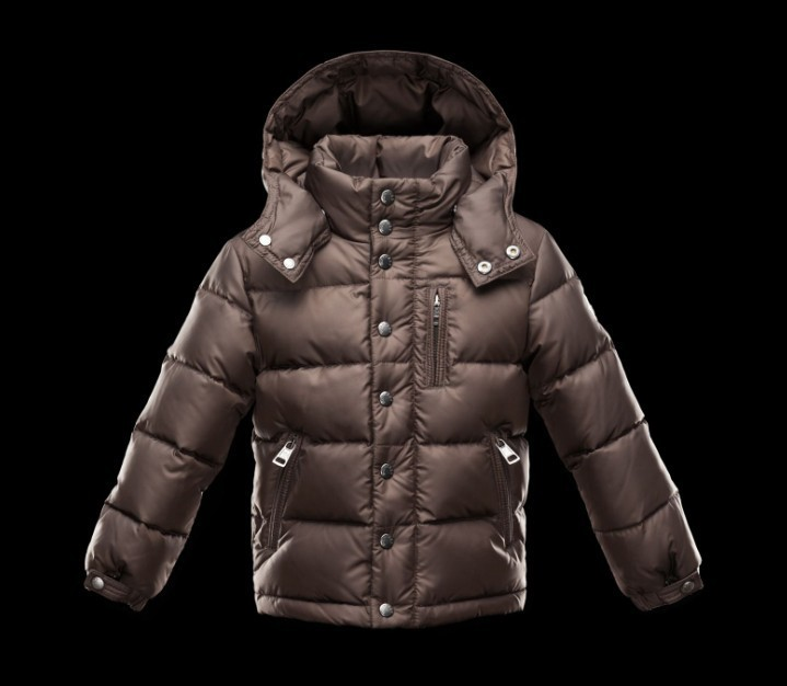 New Cheap Moncler Kids Coats Brown With Cap Sale NA1085