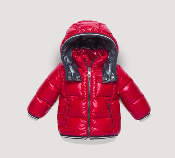 New Cheap Moncler Kids Coats Red With Cap Sale NA1086