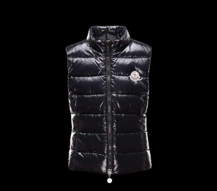 New Cheap Moncler Kids Vests Black Sale NA1075