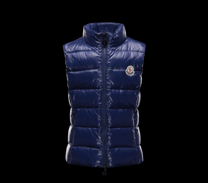 New Cheap Moncler Kids Vests Blue Sale NA1073