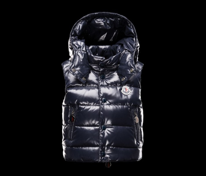 New Cheap Moncler Kids Vests Deep Blue Sale NA1070