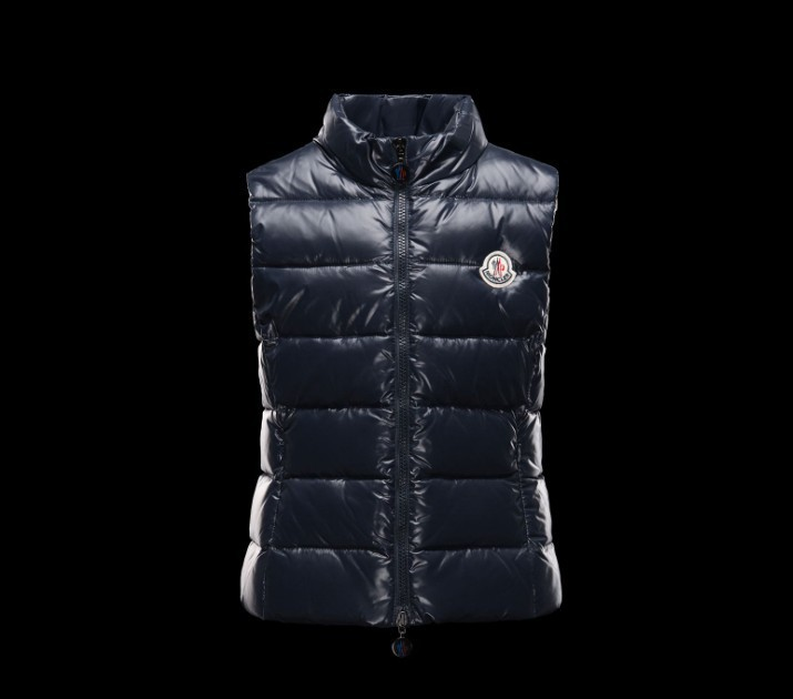 New Cheap Moncler Kids Vests Deep Blue Sale NA1074