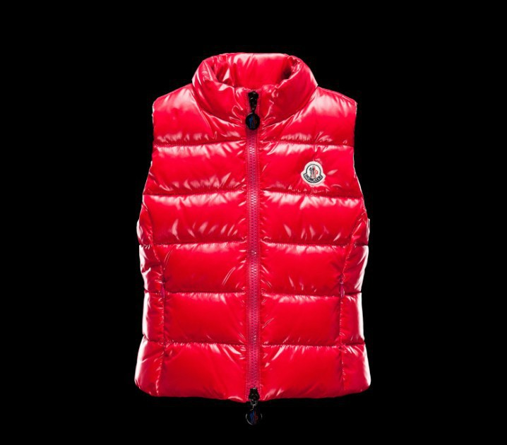 New Cheap Moncler Kids Vests Red Sale NA1071