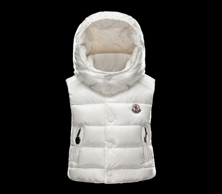 New Cheap Moncler Kids Vests White Sale NA1068