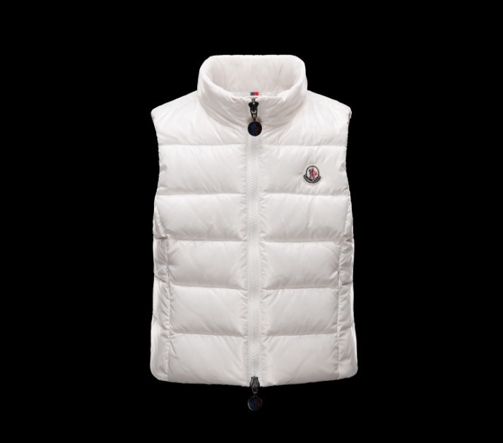 New Cheap Moncler Kids Vests White Sale NA1072