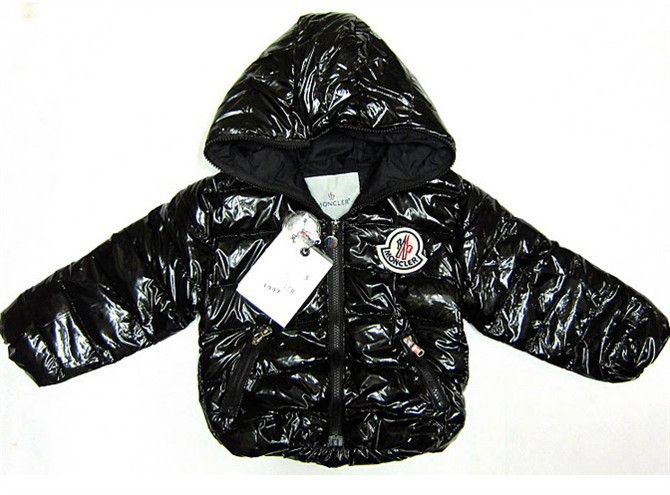 Cheap Moncler Kids Down Jackets Black MC1406 Sale