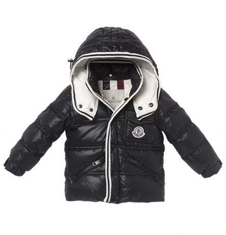 Cheap Moncler Kids Down Jackets Black MC1416 Sale