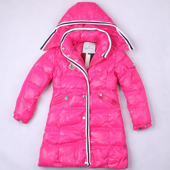 Cheap Moncler Kids Down Jackets Pink Long MC1397 Sale