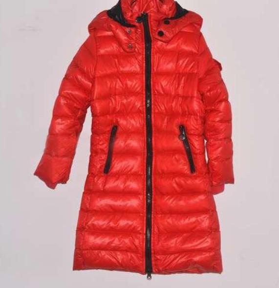 Cheap Moncler Kids Long Down Jackets Red MC1408 Sale