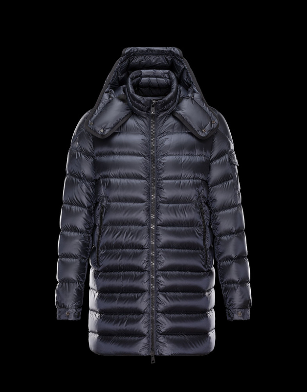 New Cheap Moncler Long Men Jackets Blue With Cap Sale NA1011