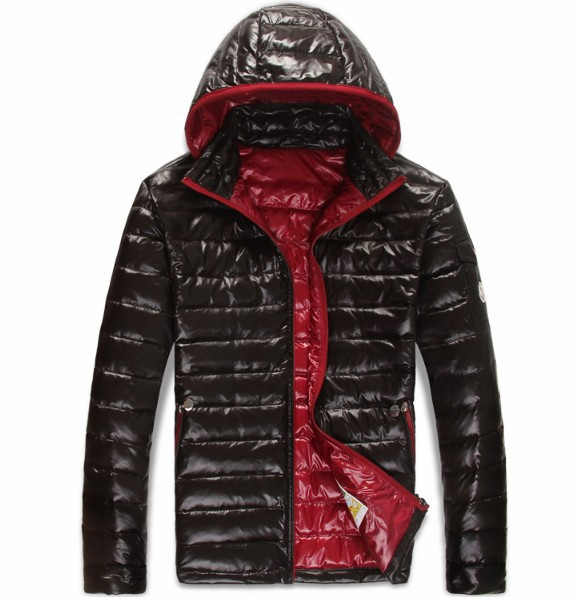 New Cheap Moncler Men Jackets Black With Cap Sale NA1006