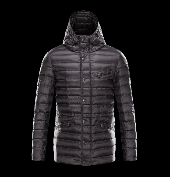 New Cheap Moncler Men Jackets Black With Cap Sale NA1022