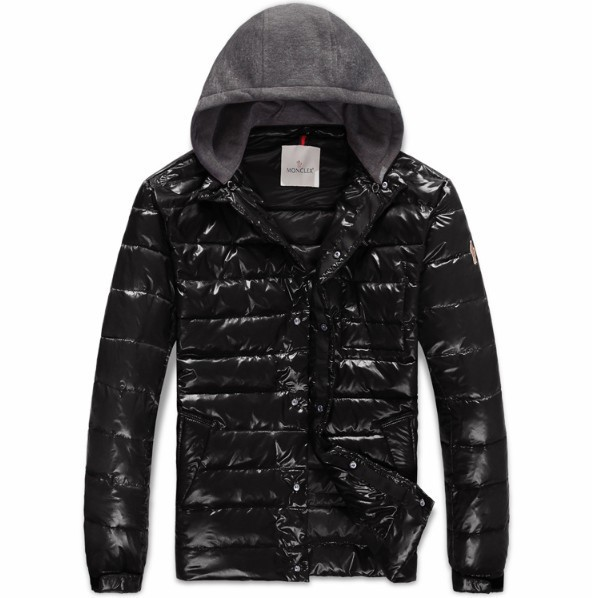 New Cheap Moncler Men Jackets Black With Hooded Sale NA1004