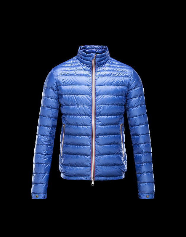 New Cheap Moncler Men Jackets Light Blue Sale NA1019