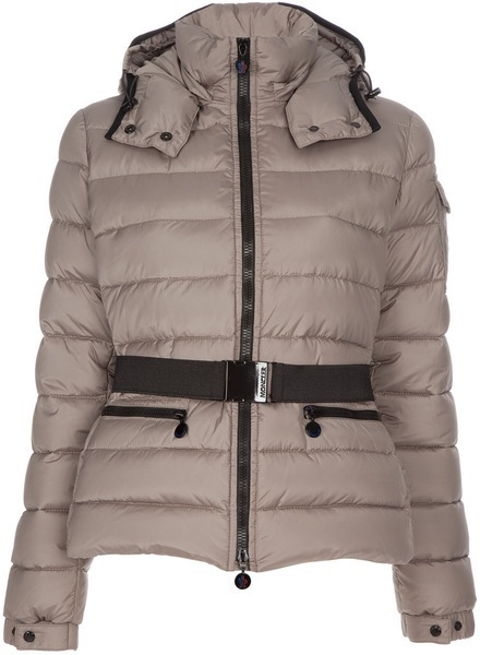 New Cheap Moncler Women Coats Gray With Belt Sale NA1055
