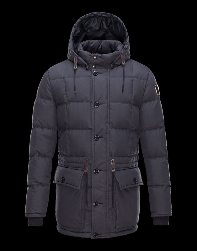 Cheap Moncler Coats Men Navy With Mock Collar MC1021 Sale
