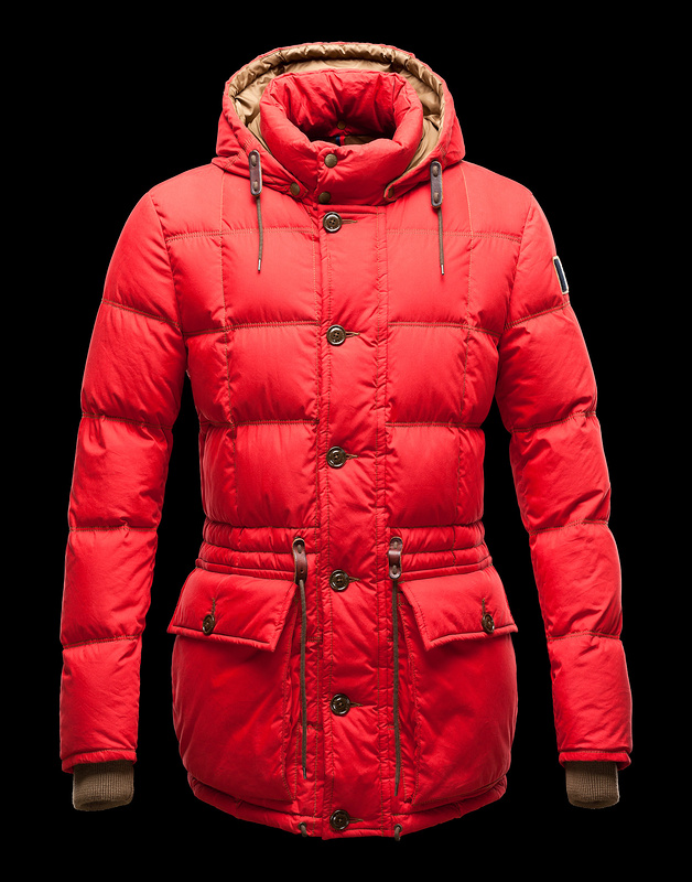 Cheap Moncler Coats Men Red With Mock Collar MC1022 Sale