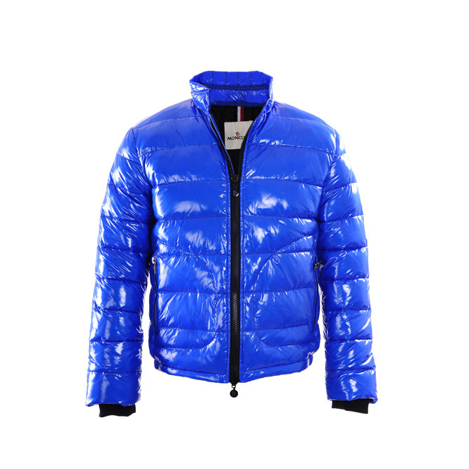 Cheap Moncler Down Jackets For Men Blue With Mock MC1370 Sale