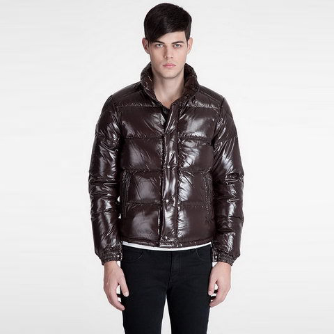 Cheap Moncler Down Jackets For Men Brown MC1322 Sale