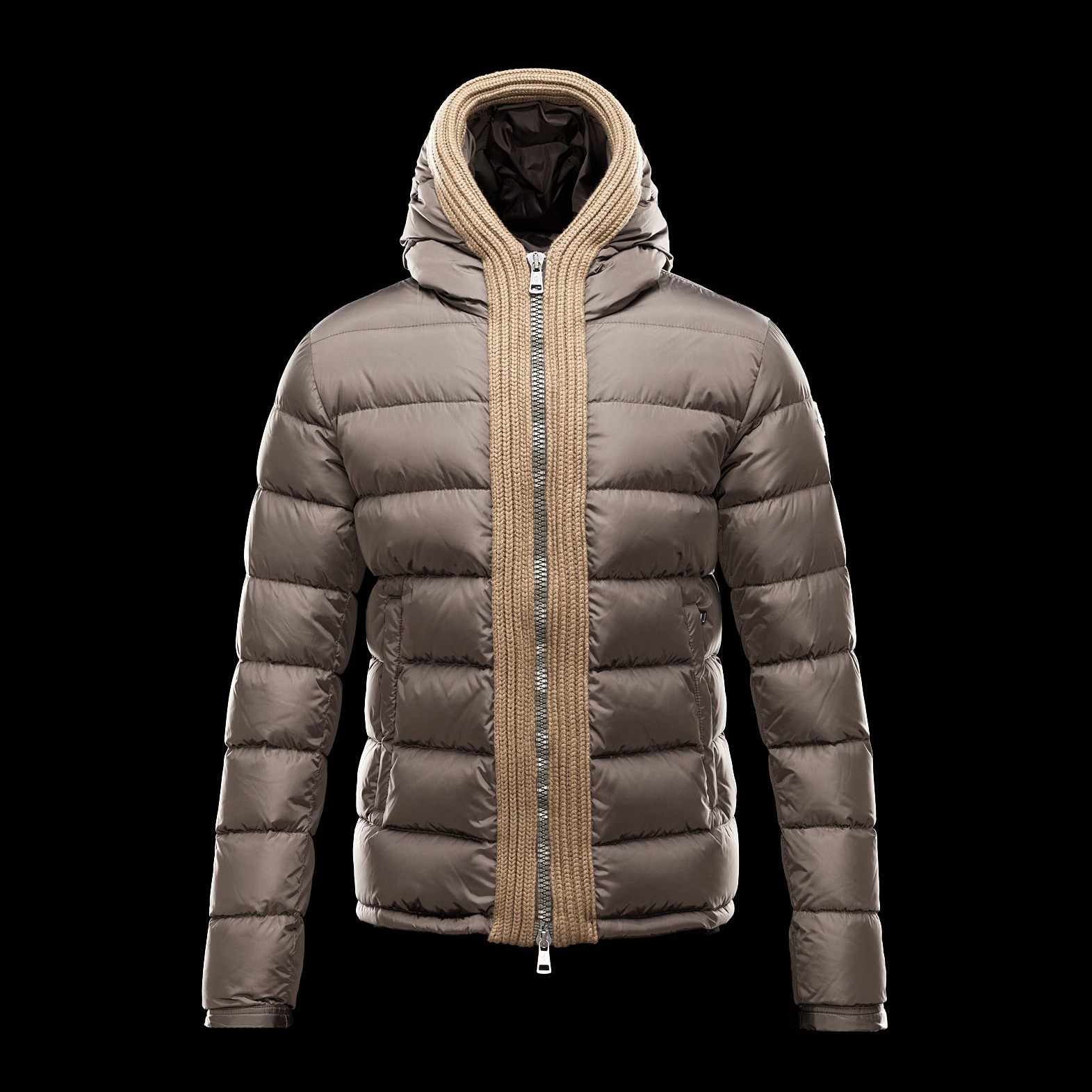 Cheap Moncler Down Jackets For Men Short Khaki MC1318 Sale