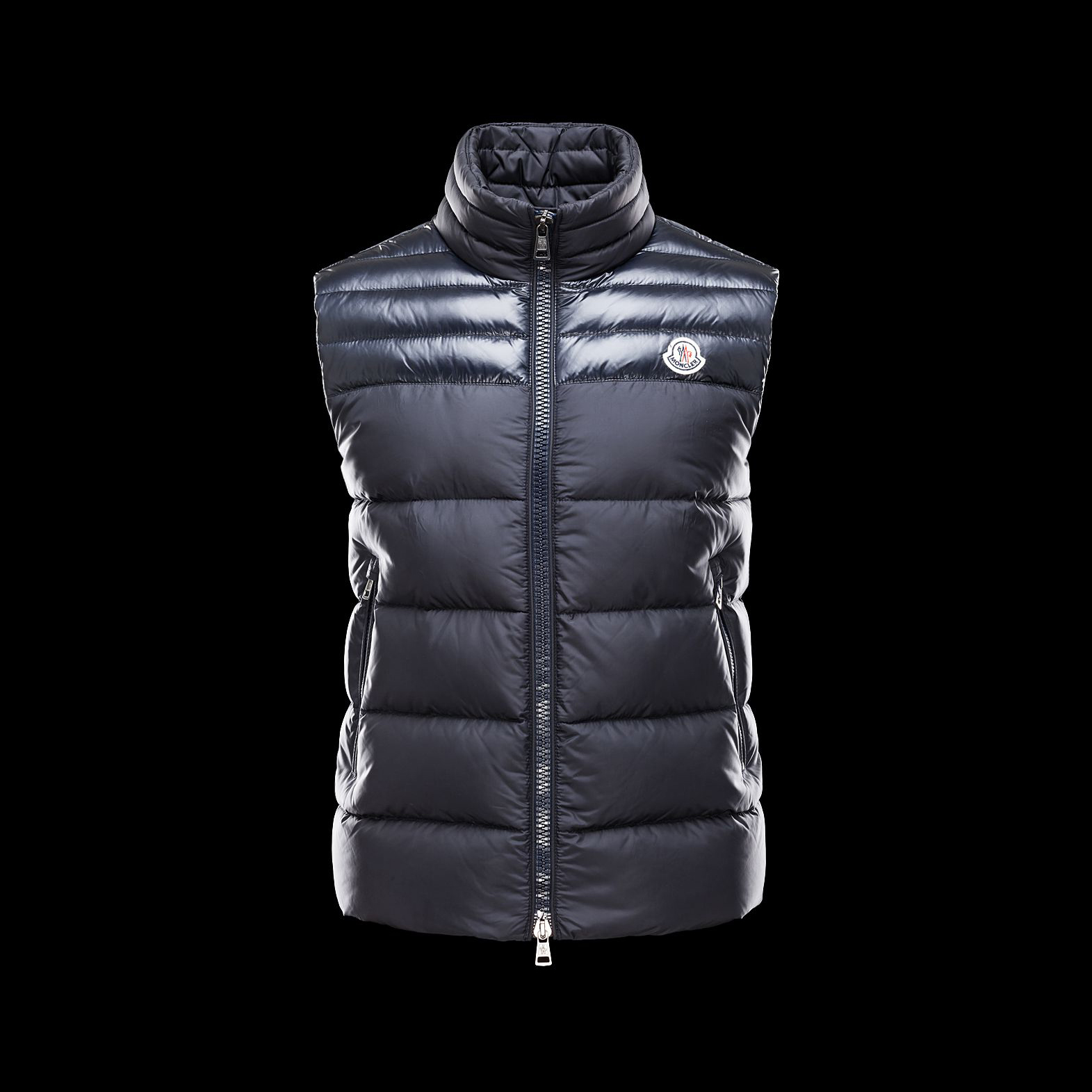 Cheap Moncler Down Vest Men Blue MC1312 Sale