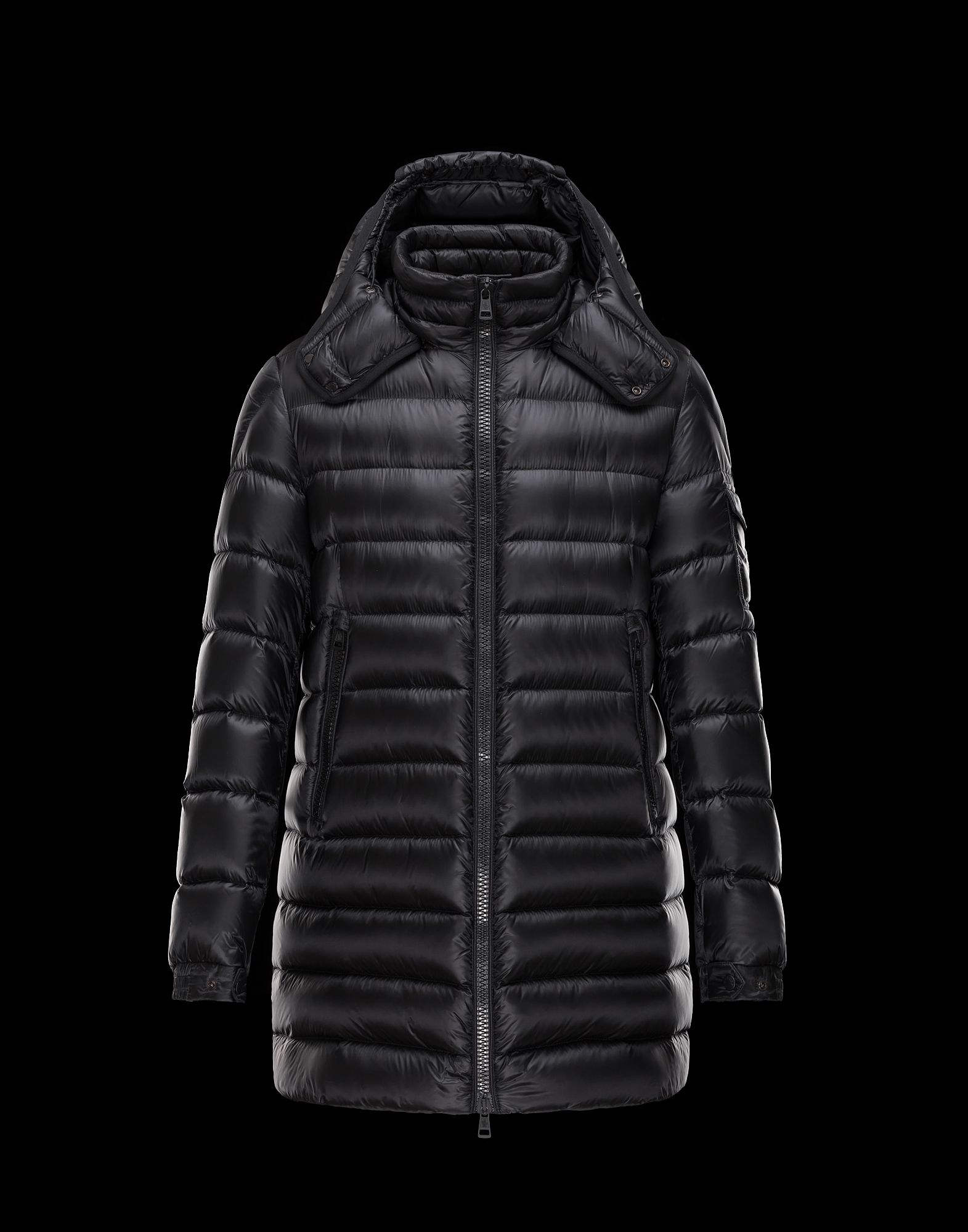 Cheap Moncler DUSTIN Men Coats Black With Removable Cap Sale NA1120