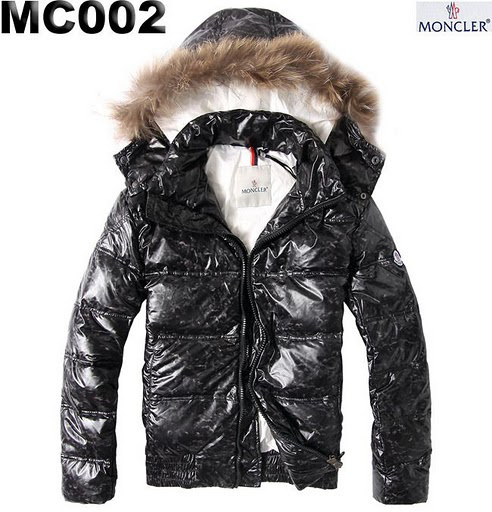 Cheap Moncler Jackets For Men Black Short Fur Cap MC1100 Sale