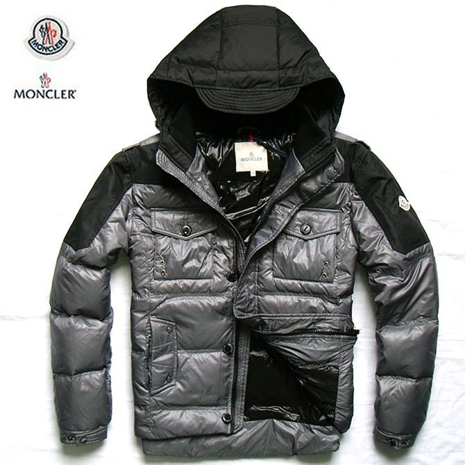 Cheap Moncler Jackets For Men Black_Silver MC1009 Sale