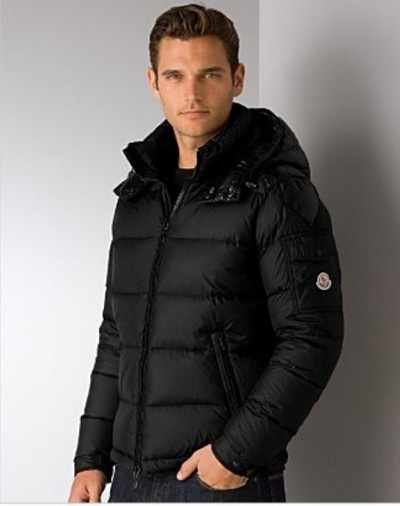 Cheap Moncler Jackets For Men Black With High Collar MC1112 Sale