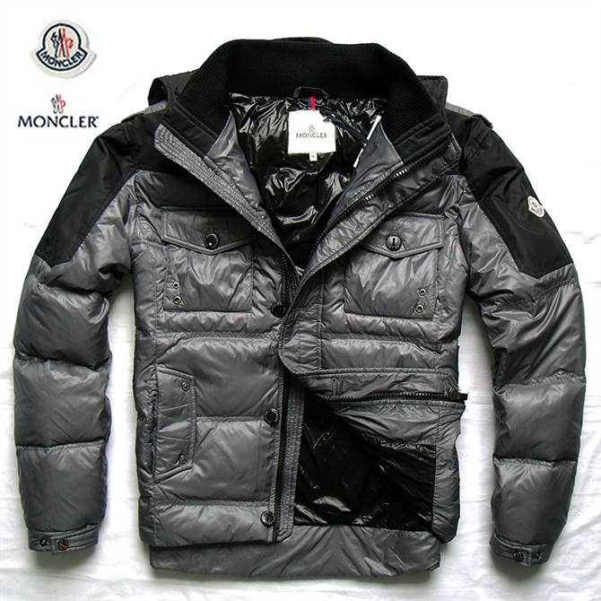 Cheap Moncler Jackets For Men Black With Mock Collar MC1011 Sale