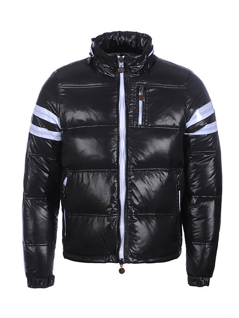Cheap Moncler Jackets For Men Black With Mock Collar MC1106 Sale