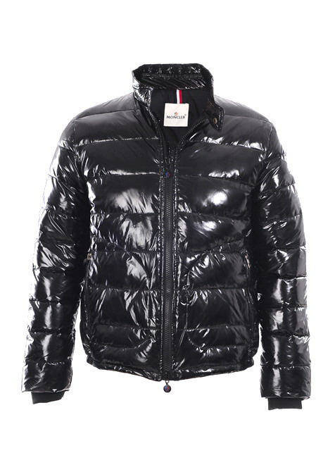 Cheap Moncler Jackets For Men Black With Mock Collar MC1110 Sale
