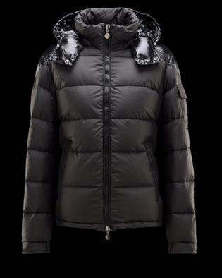 Cheap Moncler Jackets For Men Black With Mock Collar MC1116 Sale