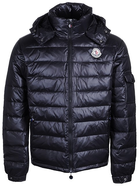 Cheap Moncler Jackets For Men Black With Mock Collar MC1233 Sale