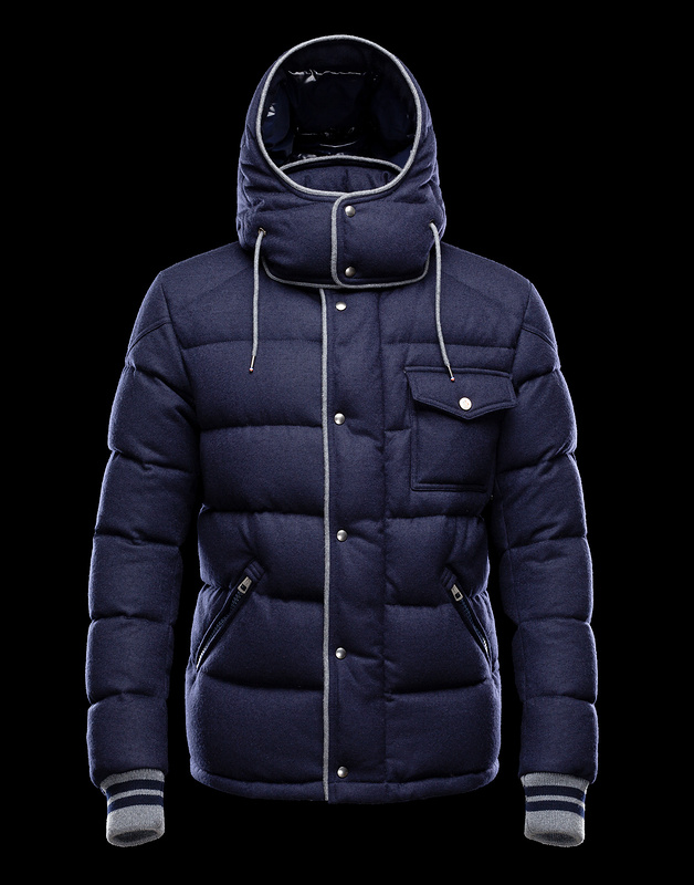 Cheap Moncler Jackets For Men Blue With Detachable Cap MC1031 Sale