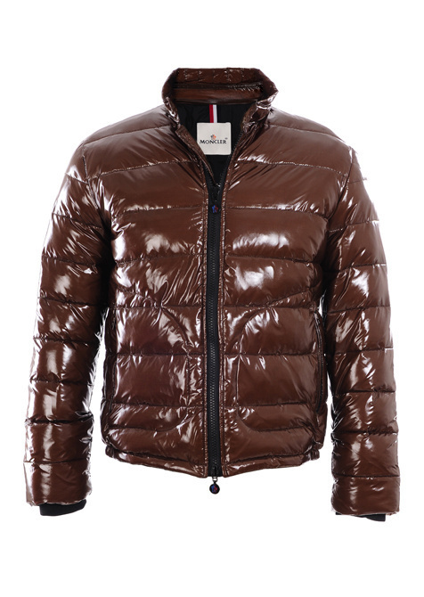Cheap Moncler Jackets For Men Brown With Mock Collar MC1127 Sale