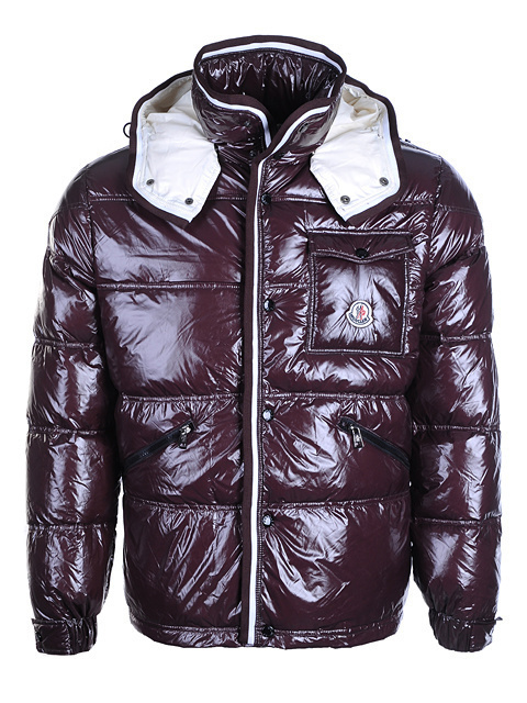 Cheap Moncler Jackets For Men Claret With Mock Collar MC1128 Sale