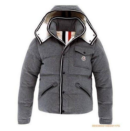 Cheap Moncler Jackets For Men Grey With Mock Collar MC1125 Sale