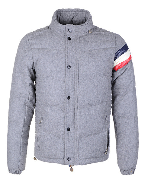 Cheap Moncler Jackets For Men Grey With Mock Collar MC1199 Sale