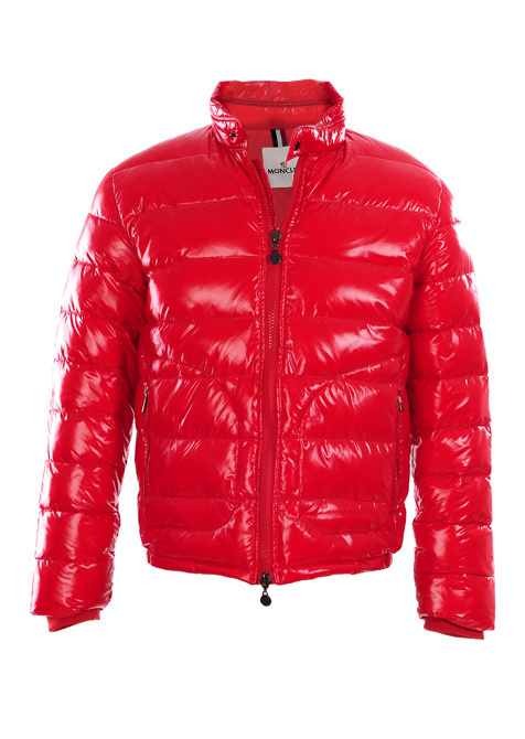 Cheap Moncler Jackets For Men Red With Mock Collar MC1121 Sale