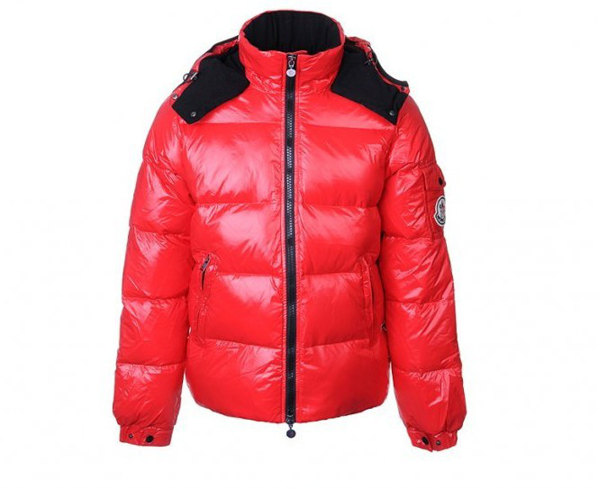 Cheap Moncler Jackets For Men Red With Mock Collar MC1122 Sale