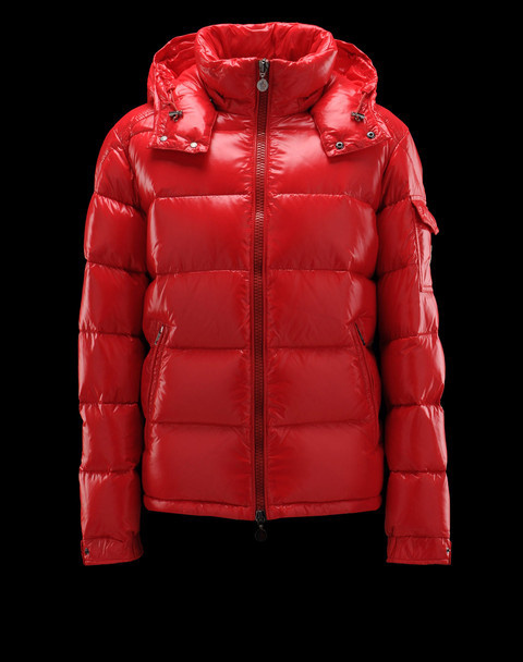 Cheap Moncler Jackets For Men Red With Mock Collar MC1123 Sale