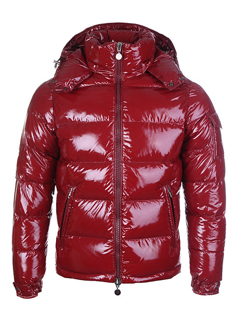 Cheap Moncler Jackets For Men Red With Mock Collar MC1208 Sale