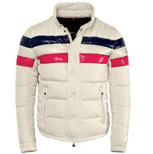 Cheap Moncler Jackets For Men White With Mock Collar MC1210 Sale