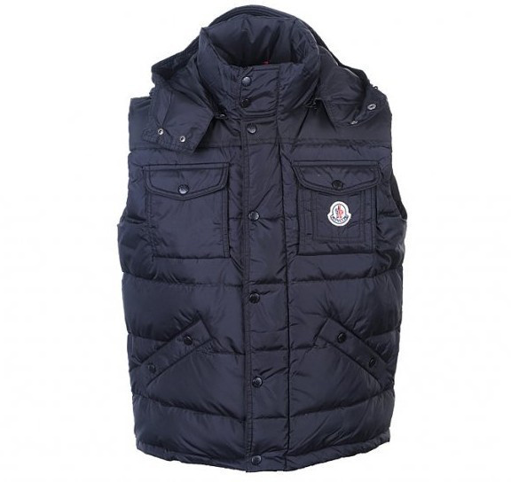 Cheap Moncler Men Down Vest Black MC1439 Sale