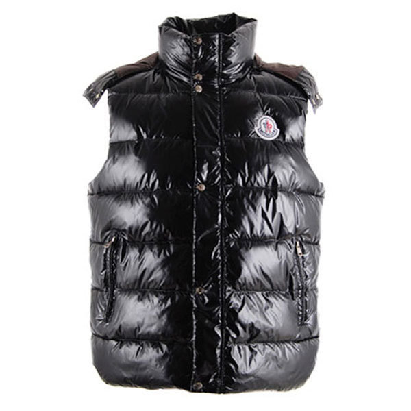Cheap Moncler Men Down Vest Black MC1444 Sale
