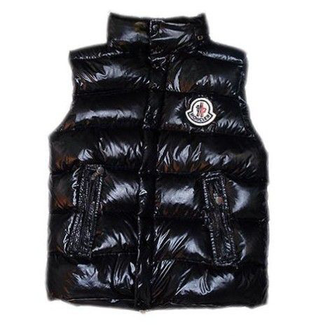 Cheap Moncler Men Down Vest Black MC1464 Sale