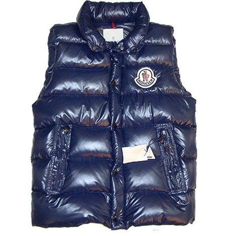 Cheap Moncler Men Down Vest Blue MC1463 Sale
