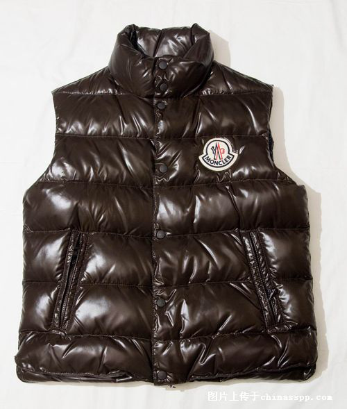 Cheap Moncler Men Down Vest Coffee MC1460 Sale