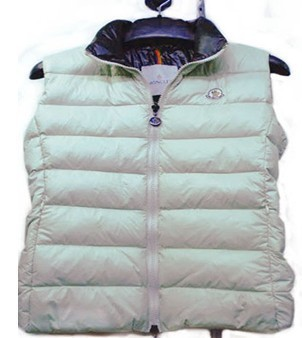 Cheap Moncler Men Down Vest White MC1443 Sale